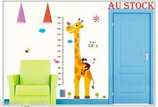 "NEW~""Girraffe Height Chart"" Removable Kids Bedroom Home Wall Stickers Decal Art"