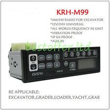 Tractor Excavator 12-24V Radio AM FM AUX USB For Caterpillar Kubota 1999-2016