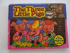 THE THREE LITTLE PIGS ALL ACTION POP-UP BOOK 1984 BROWN WATSON ENGLAND V KUBASTA