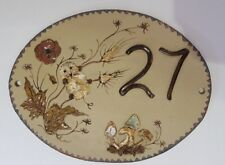House Sign No 27 Oval in Pottery  - New