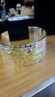 Beautiful 925 Dragonfly wide cuff bracelet