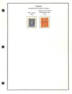 [OP9515] Panama lot of stamps on 10 pages