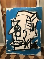 """New ListingOriginal Art 36�x 48� Acrylic On Canvas 1� Thick By Jamet """" Third Party Fighter�"""