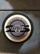 LOS ANGELES KINGS LA VINTAGE OFFICIAL 25th Ann. GAME PUCK BLANK BACK RARE! MINT!