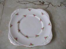 "Grafton Bone China Placa De La Torta Rosa Rosebuds Diseño 9"" X 9"""