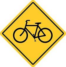"Bicycle Crossing Sign 16"" x 16"" Diagonal Dimensions"