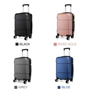 20'' Easy Jet Hold Check In Suitcase Carry On Hand Luggage Trolley 4 Wheels Case