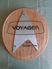 Star Trek Voyager Cast Crew Plaque 2nd Season Mint Condition