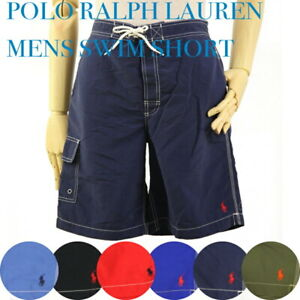 Polo Ralph Lauren Solid Swimsuit Swim Shorts w/ cargo pocket - 2 colors -