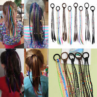 Ponytail Holder Wig Braided Headband Hair Rubber Band Elastic Hair Rope