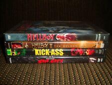 4 Mature Comic Book Movies - Hellboy 1 & 2, Sin City, Kick Ass Dvd Free Shipping