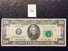 1974 $20 Twenty Dollar Bill Currency Federal Reserve Note Qty (1) Fancy Banknote