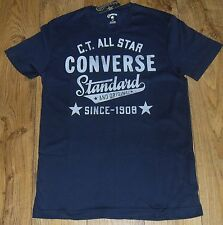 """Converse AMT SS Mens Navy Standard Crew T-Shirt Size UK Small 36"""" Chest"""