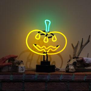 Neon (Not LED) Sign Party Lamp Jack o lantern Halloween PUMPKIN Light Sculpture