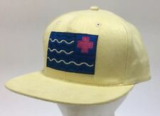 Pink Dolphin Brand Adjustable Snapback Baseball Hat Cap Soft Yellow Blue Flag