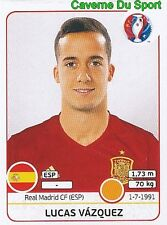 LUCAS VAZQUEZ ESPANA SPAIN REAL MADRID RARE UPDATE STICKER EURO 2016 PANINI
