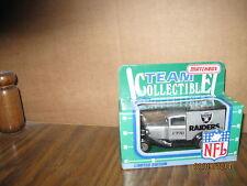 Oakland Raiders 1990 Matchbox First Diecast White Rose C. NFL Football Truck