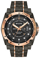 Bulova Men's Precisionist Diamond Grey & Rose Gold Chronograph Watch 98D149