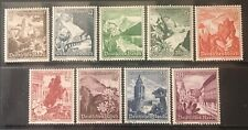 Germany Third Reich 1938 Winter Relief: Landscapes & Alpine Flowers MNH/MNG