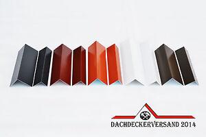 Winkelblech Blechwinkel Abschlussblech Dach Alu Aluminium farbig 2 m lang