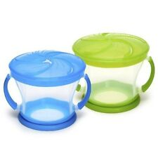 Baby Snack Cup Container BPA Free No Spill Toddler Hot Snacker Bowl 2PCS New
