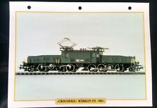 "Fiche Trains Jouets & Modélisme Ferroviaire; ""Crocodile"" Märklin en ""HO"""