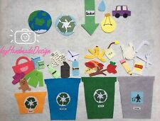 Recycling and Sustainability Felt Board/The 3R's/Earth Day theme felt story/ECE