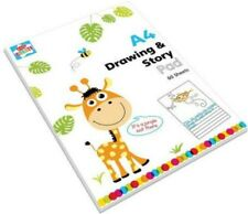 DRAWING & STORY PAD A4 White Paper Book 60 sheets kids gift  toys activity art