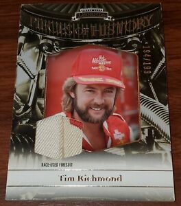 2012 Press Pass Tim Richmond Pieces Of History Rase-Used FIRESUIT 194/199