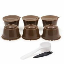 BRBHOM 6 Refillable Nescafe Dolce Gusto Coffee Capsules Reusable Pod Cup Filter