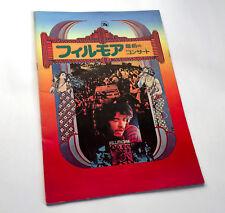 FILLMORE JAPAN MOVIE PROGRAM BOOK GRATEFUL DEAD SANTANA JEFFERSON AIRPLANE BOZ