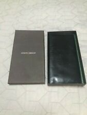 Authentic  JOSEPH ABBOUD Mens BLACK LEATHER Coat Pocket Wallet in gift box