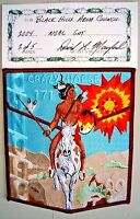 CRAZY HORSE OA 171 BLACK HILLS SD 2004 NOAC DELEGATE FLAP 2/5 MADE ARTIST SIGNED