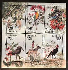 MINT LIBERIA FAUNA AND FLORA STAMPS WILD ANIMALS TREES WILDLIFE BIRDS JACKAL