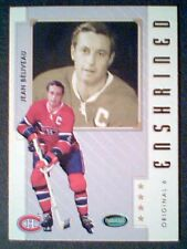 JEAN BELIVEAU   MONTREAL CANADIENS ORIGINAL SIX ENSHRINED HOCKEY LEGEND CARD