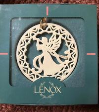 Lenox Pierced Disc 1996 Angel w/ Horn Yuletide Series Christmas Ornament New