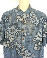 Caribbean Men's Size Medium Shirt Short Sleeve Rayon Hawaiian Tropical