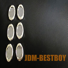 Universal VIP CHROME Style Side Vent Car Air Flow Mirror Fender Grille Grill #T6