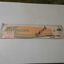 GENUINE HONDA PARTS L/H SIDE TANK STICKER XL100S XL125S 1979 17512-437-300ZB