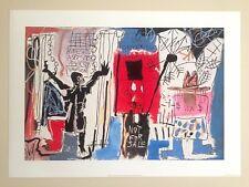"""JEAN MICHEL BASQUIAT ORIGINAL POP ART LITHOGRAPH PRINT """"OBNOXIOUS LIBERALS"""" 1982"""