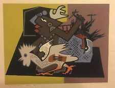 "Guy MacCoy Original Serigraph ""Yellowgreen and Blue"" Signed 1946"