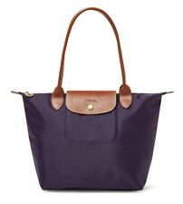 Authentic Longchamp 2605 Le Pliage Medium Nylon Tote Bilberry Purple
