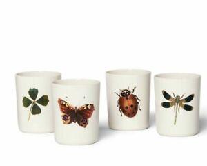 NEW! John Derian for Target Cups Melamine Tumbler Set Insect Print 16 oz
