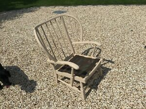 Cottage Fireside Beige Wooden Chair