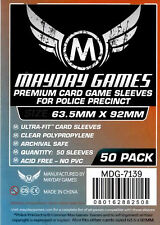 Mayday Games Police Precinct Ultra fit Card Sleeves (63.5 mm X 92mm) (50) 7139