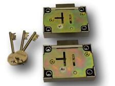 Two Gun Cabinet Safe Lock  On The Same Key (keyed alike 1 pair) With 3 Keys