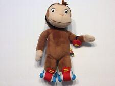 Curious George monkey rollerskate stuffed animal plush toy Skating