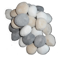10XL FAKE MIXED PEBBLES 85 X 60MM REPLACEMENT CERAMIC COALS FOR//// GAS FIRE RCF