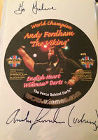 "6x4 Hand Signed Photo of Darts Legend Andy ""The Viking"" Fordham"