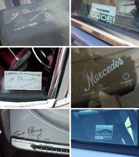 For Mercedes Benz  Alarm Code Daimler Benz Sticker Set Logo Emblem Decals